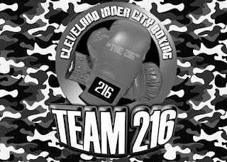 """CLEVELAND INNER CITY BOXING """"THE 216"""" 216 TEAM 216 trademark"""