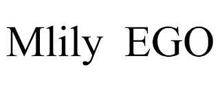MLILY EGO trademark