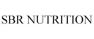 SBR NUTRITION trademark