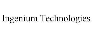 INGENIUM TECHNOLOGIES trademark