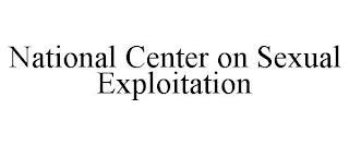 NATIONAL CENTER ON SEXUAL EXPLOITATION trademark
