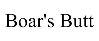 BOAR'S BUTT trademark
