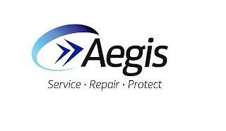 AEGIS SERVICE REPAIR PROTECT trademark