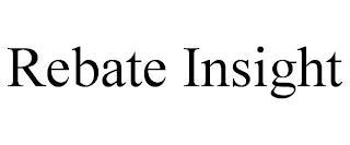 REBATE INSIGHT trademark