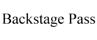 BACKSTAGE PASS trademark