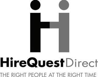 H HIREQUESTDIRECT THE RIGHT PEOPLE AT THE RIGHT TIME trademark
