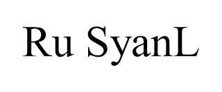 RU SYANL trademark