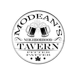 MODEAN'S NEIGHBORHOOD TAVERN PITTER PATTER trademark