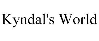 KYNDAL'S WORLD trademark