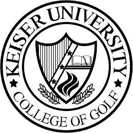 KEISER UNIVERSITY COLLEGE OF GOLF trademark