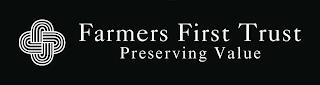FARMERS FIRST TRUST PRESERVING VALUE trademark