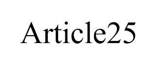 ARTICLE25 trademark