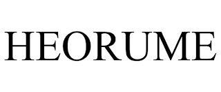 HEORUME trademark