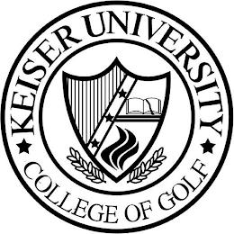 KEISER UNIVERSITY COLLEGE OF GOLF trademark
