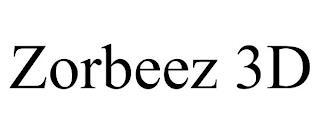 ZORBEEZ 3D trademark