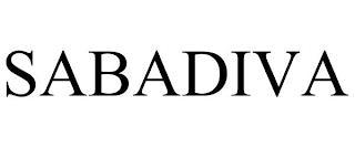SABADIVA trademark