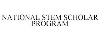 NATIONAL STEM SCHOLAR PROGRAM trademark