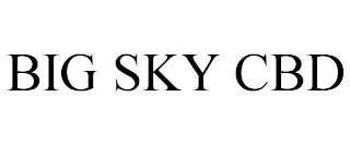 BIG SKY CBD trademark