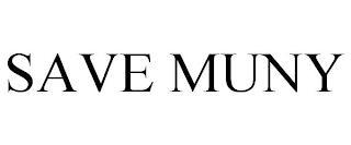 SAVE MUNY trademark