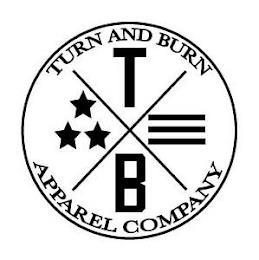 X T B TURN AND BURN APPAREL COMPANY trademark