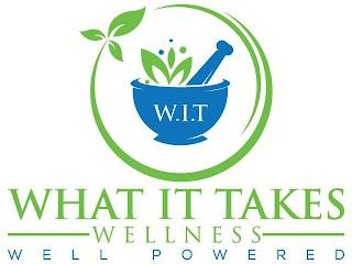 W.I.T WHAT IT TAKES WELLNESS WELL POWERED trademark
