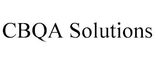 CBQA SOLUTIONS trademark