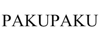 PAKUPAKU trademark
