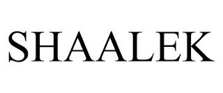 SHAALEK trademark
