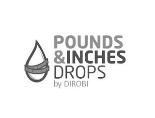 POUNDS &INCHES DROPS BY DIROBI trademark