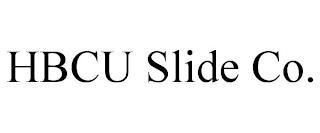 HBCU SLIDE CO. trademark