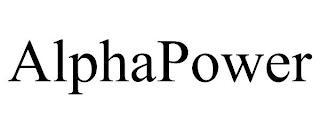 ALPHAPOWER trademark