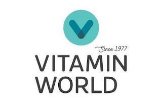 V SINCE 1977 VITAMIN WORLD trademark