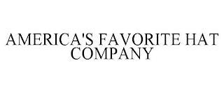 AMERICA'S FAVORITE HAT COMPANY trademark