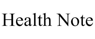 HEALTH NOTE trademark