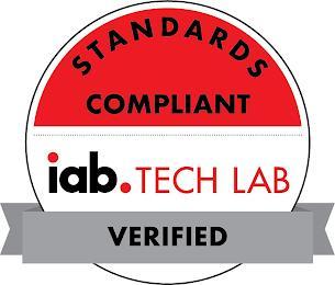 IAB. TECH LAB STANDARDS COMPLIANT VERIFIED trademark
