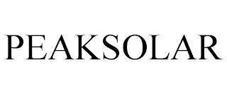 PEAKSOLAR trademark