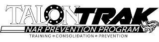 TALONTRAK NAR PREVENTION PROGRAM TRAINING ° CONSOLIDATION ° PREVENTION trademark