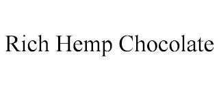 RICH HEMP CHOCOLATE trademark