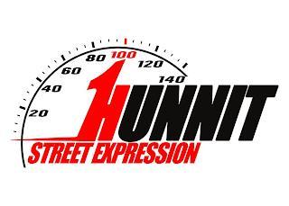 1HUNNIT STREET EXPRESSION 20 40 60 80 100 120 140 trademark