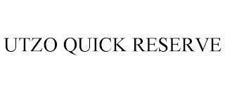 UTZO QUICK RESERVE trademark