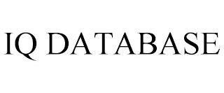 IQ DATABASE trademark