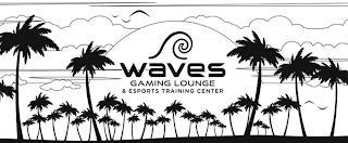WAVES GAMING LOUNGE & ESPORTS TRAINING CENTER trademark