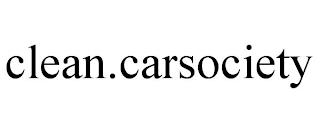 CLEAN.CARSOCIETY trademark