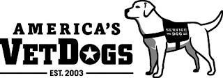 AMERICA'S VETDOGS EST. 2003 SERVICE DOG trademark