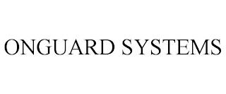 ONGUARD SYSTEMS trademark