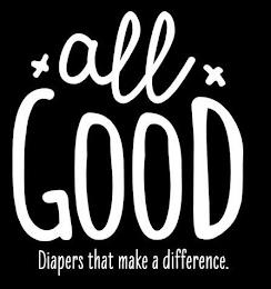 ALL GOOD DIAPERS THAT MAKE A DIFFERENCE. trademark