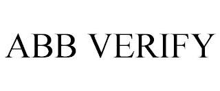 ABB VERIFY trademark