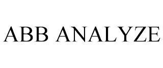 ABB ANALYZE trademark