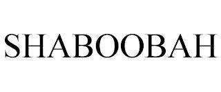 SHABOOBAH trademark