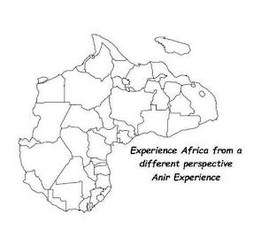 EXPERIENCE AFRICA FROM A DIFFERENT PERSPECTIVE ANIR EXPERIENCE trademark